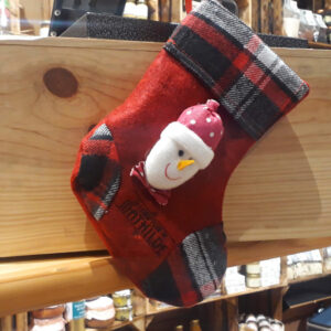 Chaussette de Noël - Bonhomme de neige