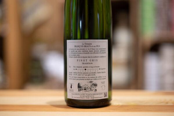 Pinot gris 2016 Millésime - François Braun