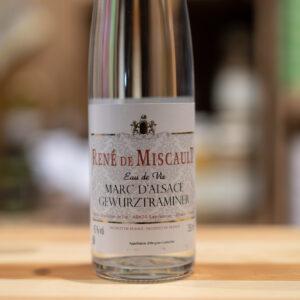 Eau de de vie Marc d'Alsace Gewurztraminer - René de Miscault