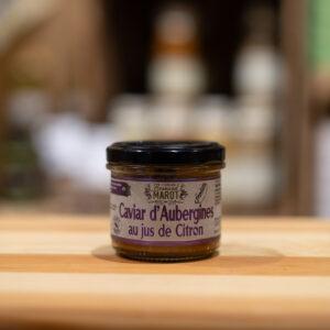 Caviar d'aubergines au jus de citron