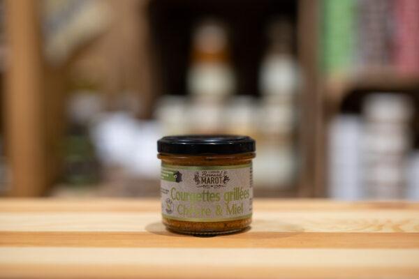 Courgettes grillées - Chèvre et miel