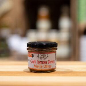 Confit tomates cerises - Miel et olives