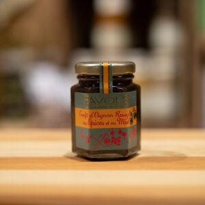 Confit d'oignons rouges aux épices et au miel