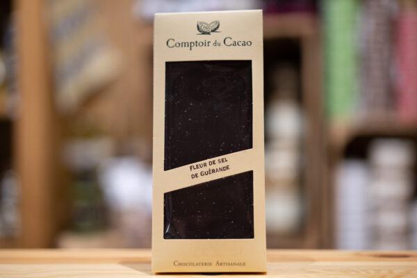 Tablette chocolat - Noir fleur de sel