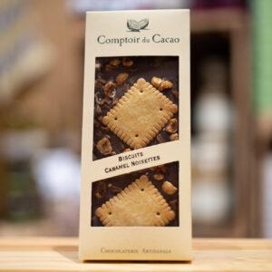 Tablette chocolat - Lait biscuit caramel noisettes