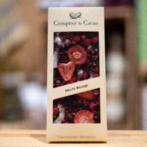 Tablette chocolat - Noir 72% - Fruits rouges
