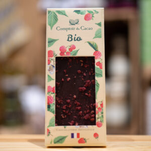 Tablette chocolat - Lait framboise - BIO