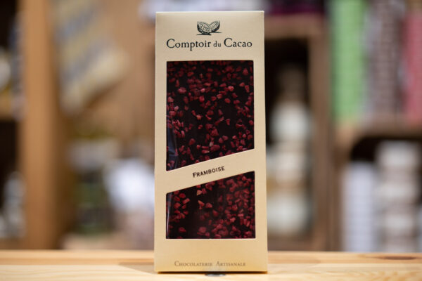 Tablette chocolat - Noir 72% framboise