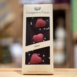 Tablette chocolat - Noir 72% coeur