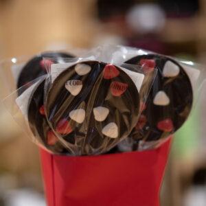 Sucette chocolat noir - Coeur